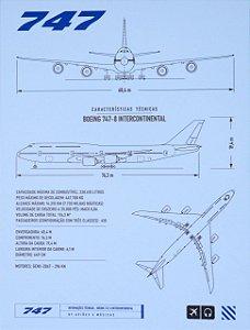 Pôster 747 Aviões e Músicas Em PVC