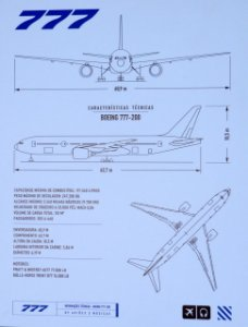 Pôster 777 Aviões e Músicas Em PVC