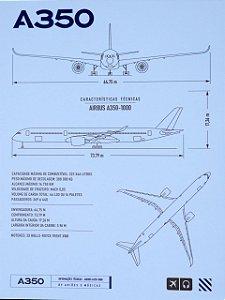 Pôster A350 Aviões e Músicas Em PVC