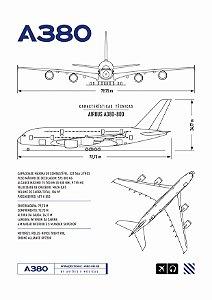 Pôster A380 Aviões e Músicas Em PVC