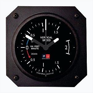 Relógio de mesa/parede - Indicador de velocidade vertical Aviões e Músicas