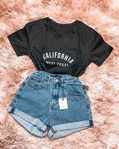 T-shirt Califórnia - Preta