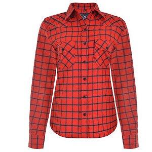 Camisa Feminina  Flanelada Xadrez Vilejack