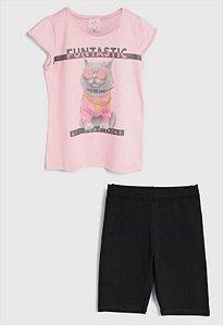Conjunto Blusa e Shorts Funtastic  Feminino Kely & Kety
