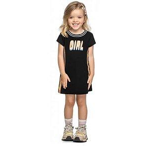 Vestido Infantil Canelado Kely  Kety