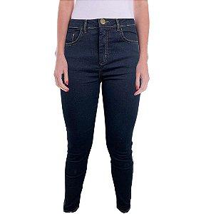 Calça Jeans Skinny Staroup Média Alta Azul Escuro