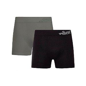 Kit 2 Cuecas Boxer Allarde de Algodão Cinza e Preto