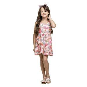 Vestido Infantil Feminino Listrado 10150592 Kely & Kety