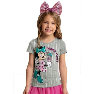 Camiseta Manga Curta Sorvete Minnie D31220 Disney