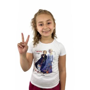 Blusa Infantil Frozen 1000069115