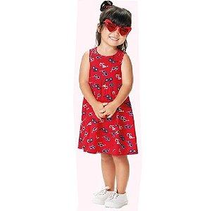 Vestido Infantil Estampado Malwee Kids 1000069673