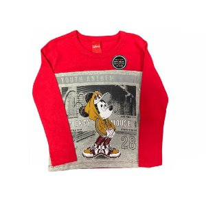 Camiseta Manga Longa Mickey Mouse D60189 Disney