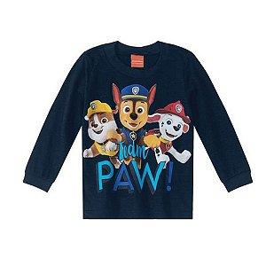 Camiseta Manga Longa Patrulha Canina Masculino Malwee Kids