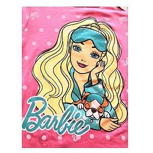 Pijama Infantil Manga Longa Estampado Barbie Liberta