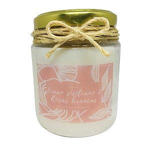 Vela Perfumada (Limão Siciliano com Rosas Brancas) - 190g