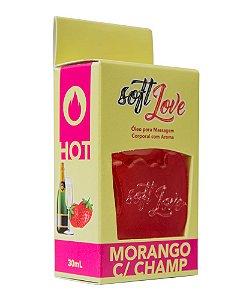 GEL HOT MORANGO COM CHAMPANHE 30ML
