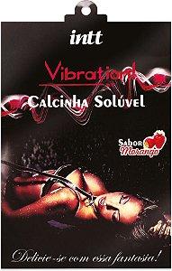 CALCINHA COMESTÍVEL VIBRATION MORANGO