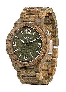 Relógio de madeira - ALPHA ARMY