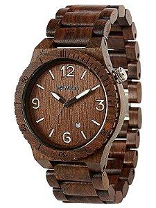 Relógio de madeira - ALPHA CHOCOLATE