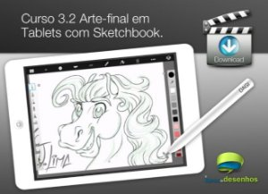 Curso 3. Aula 2 - Arte-final em Tablet com Sketchbook (entrega via Download)