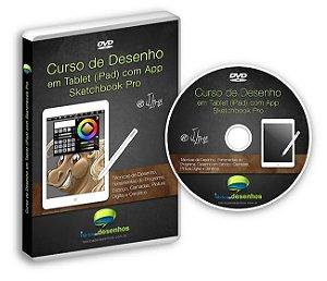 DVD Curso de Desenho e Pintura Digital em Tablets com Sketchbook Pro