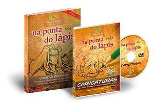 10% de Desconto | Pacote: Livro Curso de Desenho Completo + DVD Desenho de Caricaturas