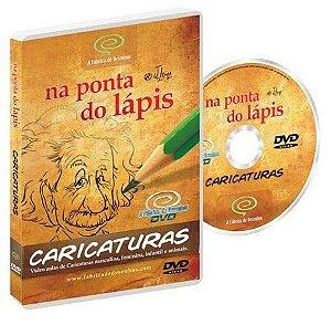 DVD Curso de Caricaturas - Aprenda a caricaturar: homens, mulheres, crianças e animais