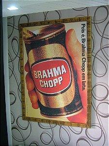 Quadro com moldura rústica - Brahma Chopp em lata