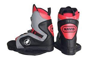 Bota para Wakeboard Navis modelo 095 aberta - Vermelha
