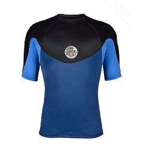 Camisa de Lycra Rip Curl Ebomb Azul/Preta