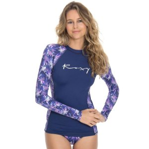Camisa de Lycra Roxy Washed Palms
