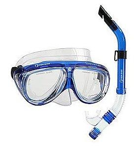 Kit Mergulho Máscara e Snorkel Fun Dive Summer III