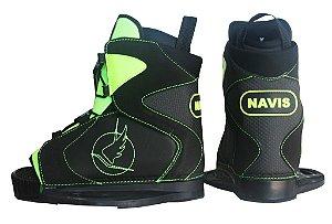 Bota para Wakeboard Navis modelo 095 aberta - Preta com Verde