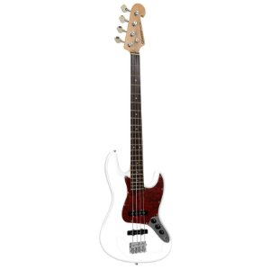 Contrabaixo Jazz Bass GB-1 Branco c/ escudo Tortoise - Giannini