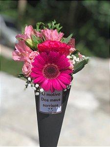 Cone de Flores com Gerbera