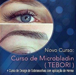 Curso de Design de Sobrancelhas com aplicação de Henna e Microblading (Tebori)