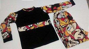 Pijama ML Flanelado - Mickey e turma