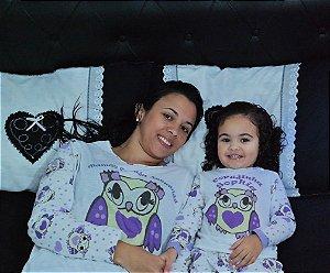 Pijama Corujinha - Adulto ou Infantil