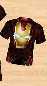 Camiseta Infantil Homem de Ferro tamanho 02