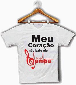 Camiseta,  T shirt ou Baby Look : Meu coração não bate : ele samba