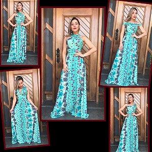 Vestido Multiuso - Versátil Estampa Esmeralda Floral