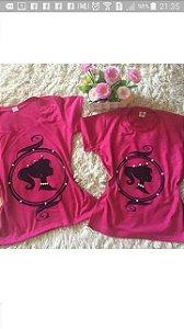 T shirt Barbie Pink com Pérolas