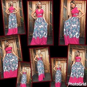 Vestido Multiuso Boho Pink ou Azul