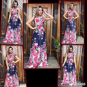 Vestido Longo Multiuso - Aurora Floral