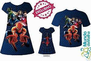 Kit Família Homem Aranha e Vingadores
