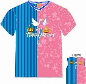 Camiseta Chá de Revelação Príncipe ou Princesa