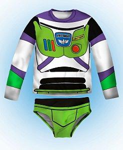 Kit de Proteção U.V - Blusa Proteção UV  Buzz Lightyear   com  Sunga