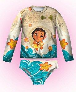 Kit de Proteção U.V - Blusa Proteção UV MOANA BABY com Biquini