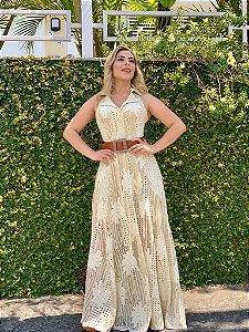 Vestido  Luxo Yolanda Bege