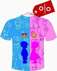 Camiseta Chá de Revelação Menino ou Menina